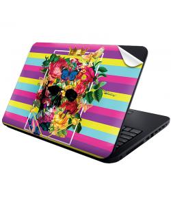 Floral Explosion Skull - Laptop Generic Skin