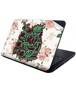 Queen of the Streets - Floral White - Laptop Generic Skin