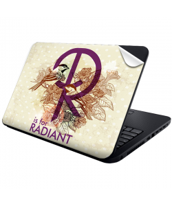R is for Radiant - Laptop Generic Skin