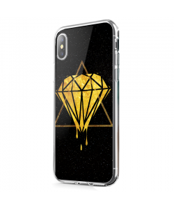 Diamond - iPhone X Carcasa Transparenta Silicon