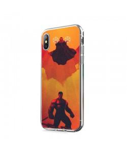 Dr. Strange & Hulk - iPhone X Carcasa Transparenta Silicon