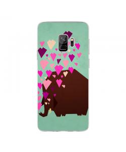 Elephant Love - Samsung Galaxy S9 Carcasa Transparenta Silicon