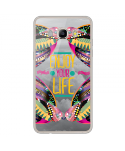 Enjoy Your Life - Samsung Galaxy J7 Carcasa Silicon Transparent