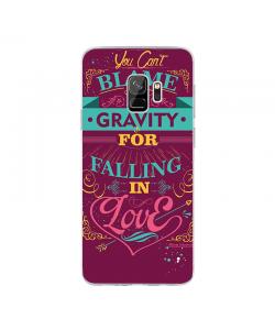 Falling in Love - Samsung Galaxy S9 Carcasa Transparenta Silicon