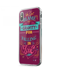 Falling in Love - iPhone X Carcasa Transparenta Silicon