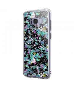 Floral Black - Samsung Galaxy S8 Plus Carcasa Premium Silicon