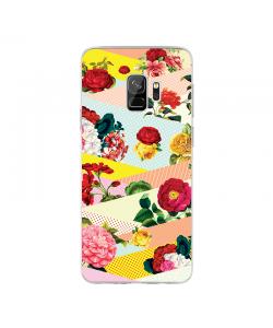 Flowers, Stripes & Dots - Samsung Galaxy S9 Carcasa Transparenta Silicon