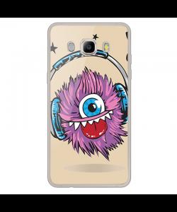 Fluffy Headphones - Samsung Galaxy J7 Carcasa Silicon Transparent
