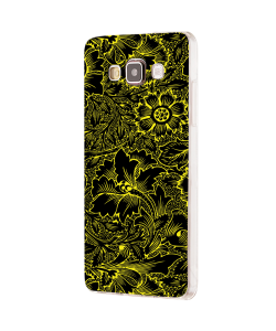 Black & Yellow - Samsung Galaxy J5 Carcasa Silicon