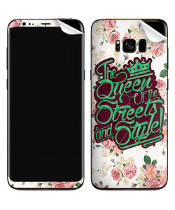 Queen of the Streets - Floral White - Samsung Galaxy S8 Plus Skin