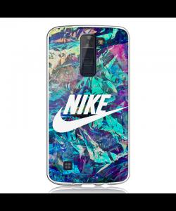Glitchy Nike - LG K8 Carcasa Transparenta Silicon