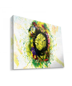 Gold Lion - Canvas Art 75x60