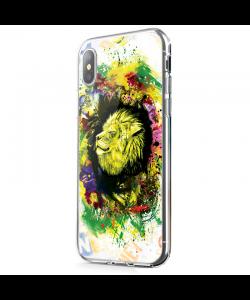 Gold Lion - iPhone X Carcasa Transparenta Silicon