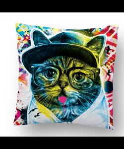 Perna decorativa - Hipster Meow