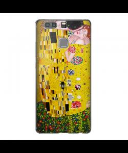 Gustav Klimt The Kiss - Huawei P9 Plus Carcasa Transparenta Silicon
