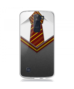 Harry Potter Tie - LG K8 2017 Carcasa Transparenta Silicon