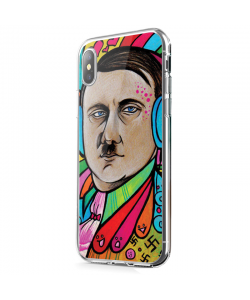 Hitler Meets Colors - iPhone X Carcasa Transparenta Silicon