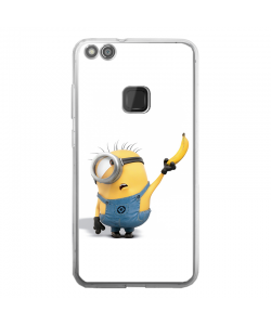 Banana Minion - Huawei P10 Lite Carcasa Transparenta Silicon