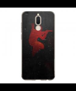 Grunge Red Counter Strike - Huawei Mate 10 Lite Carcasa Transparenta Silicon