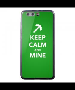 Keep calm and Mine - Huawei P10 Carcasa Transparenta Silicon