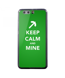Keep Calm and Mine - Huawei P10 Plus Carcasa Transparenta Silicon