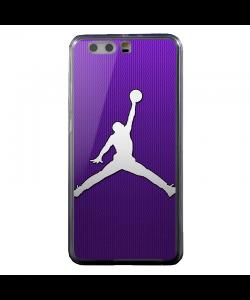 Purple Jordan - Huawei P10 Carcasa Transparenta Silicon