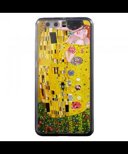 Gustav Klimt - The Kiss - Huawei P8 Lite Carcasa Transparenta Silicon