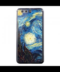 Van Gogh - Starry Night - Huawei P10 Plus Carcasa Transparenta Silicon