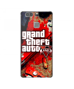 Grand Theft Auto V - Huawei P9 Plus Carcasa Transparenta Silicon