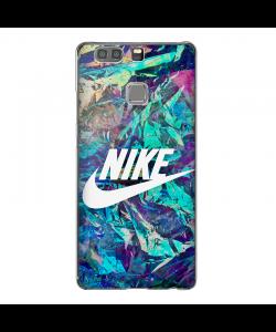 Glitchy Nike - Huawei P9 Plus Carcasa Transparenta Silicon