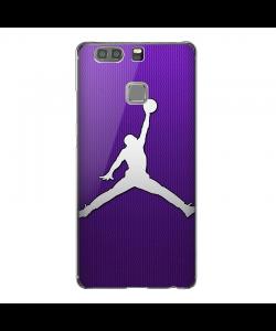 Purple Jordan - Huawei P9 Plus Carcasa Transparenta Silicon