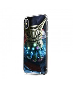 Infinity Gauntlet - iPhone X Carcasa Transparenta Silicon