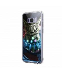 Infinity Gauntlet - Samsung Galaxy S8 Carcasa Transparenta Silicon