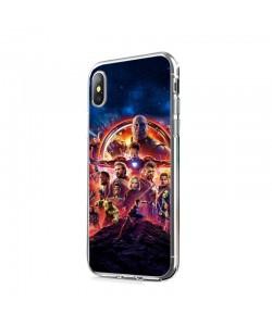 Infinity War Avengers - iPhone X Carcasa Transparenta Silicon