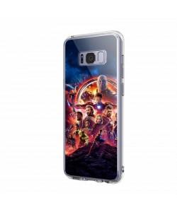 Infinity War Avengers - Samsung Galaxy S8 Carcasa Transparenta Silicon