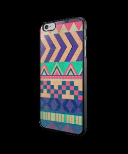 Tribal Pastel - iPhone 6/6S Carcasa Neagra TPU