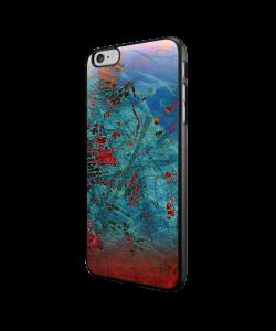Metallic Scratch - iPhone 6/6S Carcasa Neagra TPU