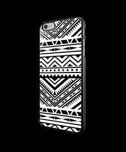 Tribal Black & White - iPhone 6/6S Carcasa Neagra TPU