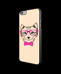 Hipster Cat - iPhone 6/6S Carcasa Neagra TPU