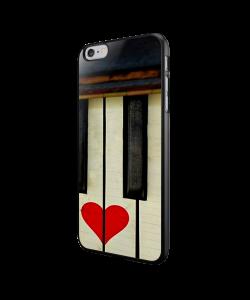 Piano Love - iPhone 6/6S Carcasa Neagra TPU