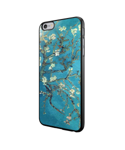 Van Gogh - Branches with Almond Blossom - iPhone 6/6S Carcasa Neagra TPU