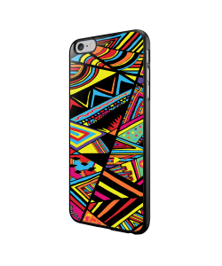 Patchy Stripes - iPhone 6/6S Carcasa Neagra TPU