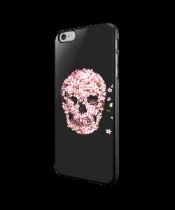 Cherry Blossom Skull - iPhone 6/6S Carcasa Neagra TPU