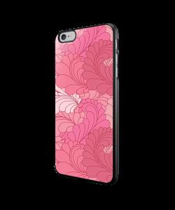 Rosy Feathers - iPhone 6/6S Carcasa Neagra TPU