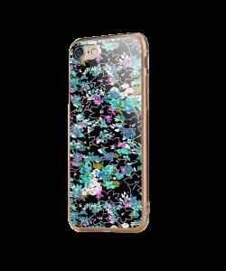 Floral Black - iPhone 7 / iPhone 8 Carcasa Transparenta Silicon