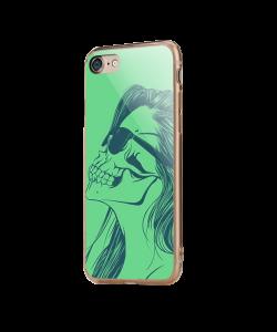 Skull Girl - iPhone 7 / iPhone 8 Carcasa Transparenta Silicon