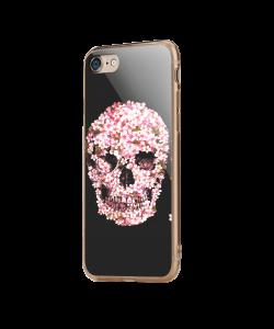 Cherry Blossom Skull - iPhone 7 / iPhone 8 Carcasa Transparenta Silicon