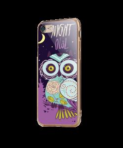 Night Owl - iPhone 7 / iPhone 8 Carcasa Transparenta Silicon