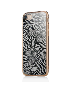 Zebra Pattern - iPhone 7 / iPhone 8 Carcasa Transparenta Silicon