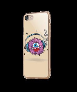 Fluffy Headphones - iPhone 7 / iPhone 8 Carcasa Transparenta Silicon